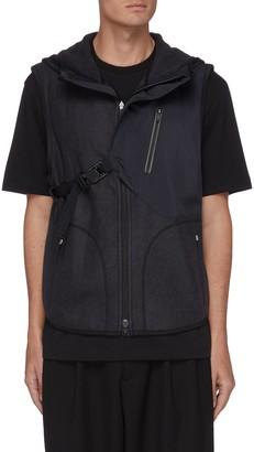 Y-3 Buckle strap zip front hooded jacket
