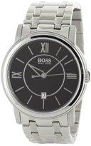 HUGO BOSS Men's 1512388 H1002 Black Dial Stainless-Steel Bracelet Watch