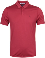 Cp Company Red Mako Cotton Short Sleeve Polo Shirt