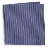Armani Collezioni Thin Stripe Silk Pocket Square