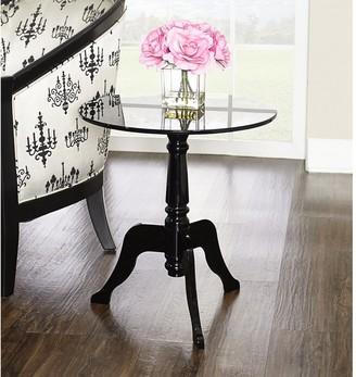 Linon Sarah Black Acrylic End Table