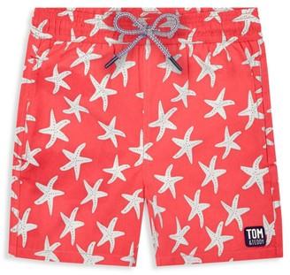 Tom & Teddy Little Boy's & Boy's Starfish Swim Trunks