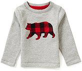 Class Club Little Boys 2T-6 Plaid Bear Sweatshirt