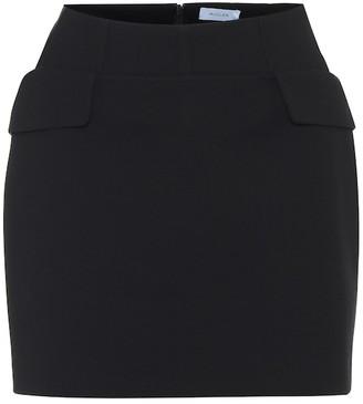 Thierry Mugler High-rise virgin wool miniskirt