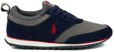 Polo Ralph Lauren Ponteland Suede Sports Trainers Newport Navy/charcoal Grey