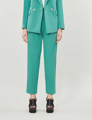 Topshop Kiki cropped peg woven trousers