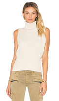 525 America Cable Rib Sleeveless Crop Sweater