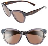 Valentino Women's 52Mm Cat Eye Sunglasses - Black/ Black Crystal