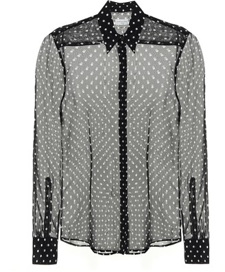 Dries Van Noten Polka-dot silk blouse