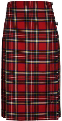 Oxfords Cashmere Ladies Long Kilt in Pure New Wool