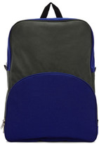 Comme des Garcons Green and Blue Bicolor Nylon Backpack