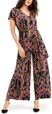 Thalia Sodi Belted Asymmetrical Jumpsuit, Created For Macy's