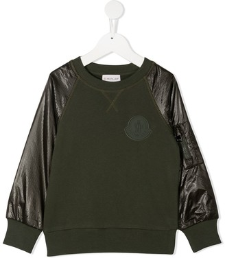 Moncler Enfant Contrast Sleeve Sweatshirt