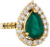 Ring Emerald, Diamond & Yellow Sapphire