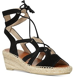 Andre Assous Women's Deanna Lace Up Espadrille Wedge Sandals