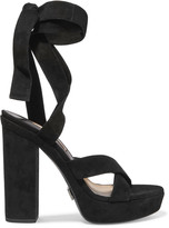 Michael Kors Alyce lace-up suede sandals