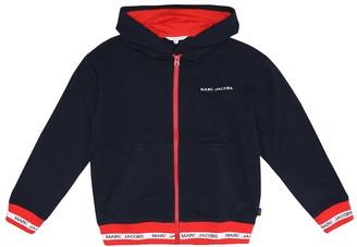 Little Marc Jacobs Logo cotton-jersey hoodie