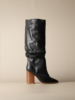 Manila Grace Boots In Draped Leather