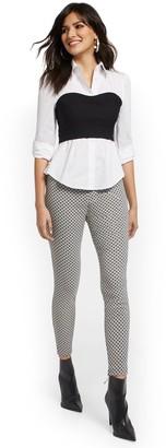 New York & Co. Tall Whitney High-Waisted Pull-On Slim-Leg Pant - Grid