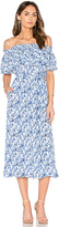 Rebecca Taylor Off Shoulder Aimee Dress in Blue. - size 0 (also in 4)
