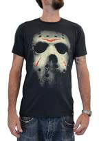 "Faces tshirt FACES MensT-shirt ""FRIDAY THE 13TH MASK"" Water Colors Screen Print"