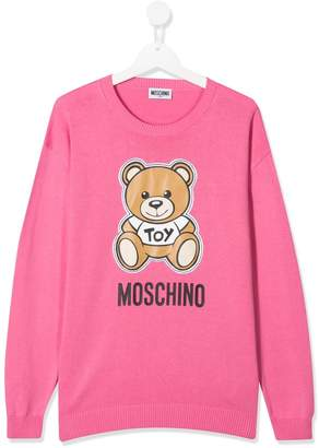 Moschino Kids TEEN teddy print sweatshirt
