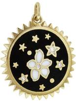 Foundrae Dark Blossoms Charm - Yellow Gold