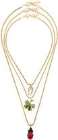 Rada' Radà three layered crystal charm necklaces