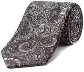 Aston & Gunn Grey Paisley Tie