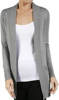 SNJ Women's Long Sleeve Knit Rib Open Front...Cardigan (Plus Size Available)
