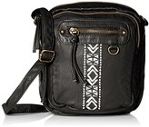 T-Shirt & Jeans Embroidered Mini Cross Body