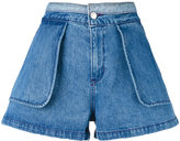 Opening Ceremony inside out shorts - women - Cotton - 0