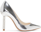 Sophia Webster Silver Metallic Coco Crystal Heels