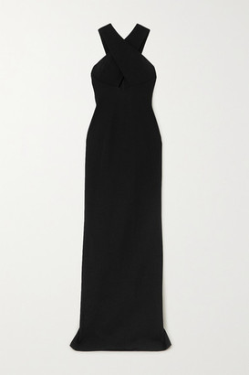 Cushnie Cutout Stretch-cady Gown - Black