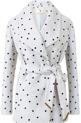 Yumi Grey Spotted Coat