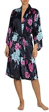 Midnight Bakery Floral-Print Kimono Robe