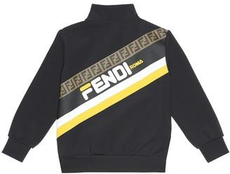 Fendi Kids FENDI MANIA track jacket