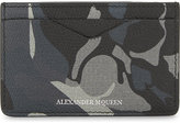 Alexander Mcqueen Camouflage Leather Card Holder