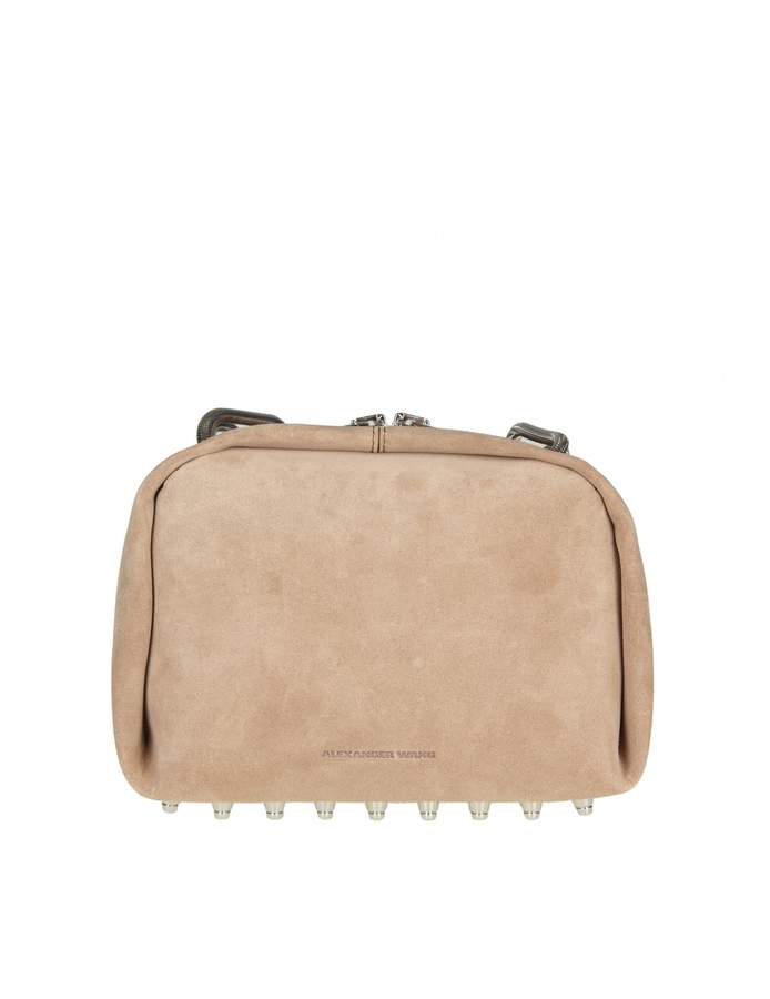 Alexander Wang Shoulder Bag In Suede Color Sand