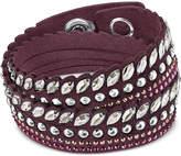 Swarovski Silver-Tone Slake Pulse Crystal Wrap Bracelet