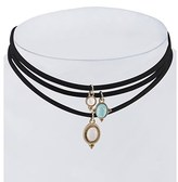 Gottex 18k Plated Set Of 3 Layered Choker Necklaces.