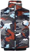 Moncler Gamme Bleu camouflage print padded vest