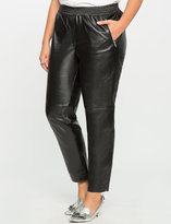 ELOQUII Plus Size Studio Faux Leather Jogger