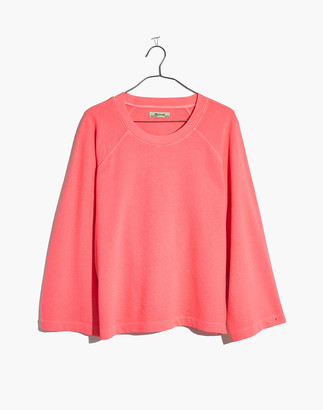 Madewell Terry Raglan Sweatshirt in Neon