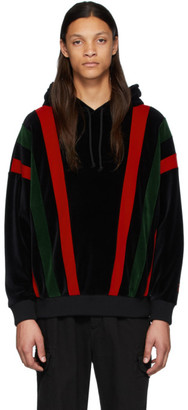 Gucci Black and Multicolor Chenille Hoodie