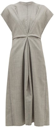 Loewe Raw-edge Wool Dress - Grey