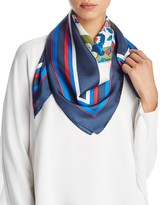 Tory Burch Pansy Bouquet Silk Square Scarf