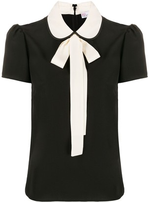 RED Valentino Pussycat Bow Short-Sleeved Blouse