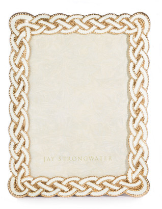 """Jay Strongwater Cream Braided Picture Frame, 5"""" x 7"""""""