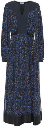 3.1 Phillip Lim Eyelet-embellished Printed Chiffon Maxi Dress
